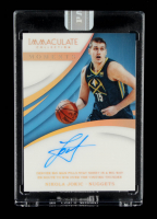 Nikola Jokic 2017-18 Immaculate Collection Immaculate Moments Autographs White Box #IMNJ Serially Numbered #1/1 at PristineAuction.com