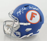 "Kyle Trask Signed Florida Gators Full-Size Throwback Speed Helmet Inscribed ""Go Gators!"" (JSA COA) at PristineAuction.com"