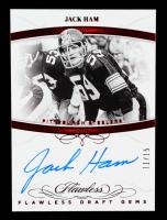 Jack Ham 2019 Panini Flawless Draft Gems Panini Autographs Ruby #DGJH #11/15 at PristineAuction.com