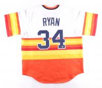 "Nolan Ryan Twice-Signed Astros Jersey Inscribed ""H.O.F. '99"" (Beckett COA & MLB Hologram) at PristineAuction.com"