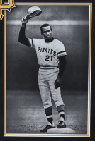 """Roberto Clemente Signed Pirates 22x28 Custom Framed Cut Display with Replica Rookie Card Inscribed """"Best Wishes"""" (PSA Encapsulated) at PristineAuction.com"""