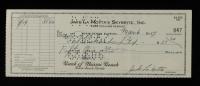 Jake LaMotta Signed 1957 Bank Check (JSA COA) at PristineAuction.com