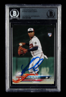Ozzie Albies Signed 2018 Topps Update #US162 AS (BGS Encapsulated) at PristineAuction.com