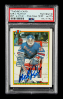 Mike Richter Signed 1990-91 Bowman #218 RC (PSA Encapsulated) at PristineAuction.com