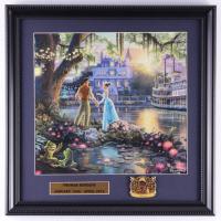 "Thomas Kinkade ""Princess & The Frog"" 16x16 Custom Framed Print Display With Princess Tiana Pin at PristineAuction.com"
