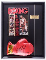 Mike Tyson Signed 17x22 Custom Framed Boxing Glove Display With Beat Boxing Magazine (PSA COA) at PristineAuction.com