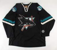 2002-03 Sharks Jersey Team-Signed by (23) With Jonathan Cheechoo, Vincent Damphousse, Adam Graves, Mikka Kiprusoff, Patrick Marleau (Beckett LOA) at PristineAuction.com