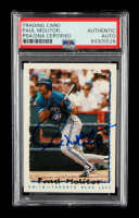 Paul Molitor Signed 1995 Topps #30 (PSA Encapsulated) at PristineAuction.com