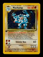 Machamp 1999 Pokemon Base 1st Edition #8 HOLO R at PristineAuction.com