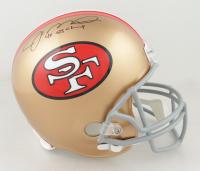 "Joe Montana Signed 49ers Full-Size Helmet Inscribed ""4x SB Champ"" (Beckett COA) (See Description) at PristineAuction.com"