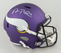 Adam Thielen Signed Vikings Full-Size Speed Helmet (Beckett Hologram) (See Description) at PristineAuction.com