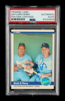 Gaylord Perry Signed 1984 Fleer #638 George Brett / Gaylord Perry (PSA Encapsulated) at PristineAuction.com