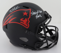"""Randy Moss Signed Patriots Full-Size Eclipse Alternate Speed Helmet Inscribed """"Straight Cash Homie"""" (Beckett COA) (See Description) at PristineAuction.com"""