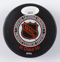 Bill Gadsby Signed Red Wings Logo Hockey Puck (JSA COA) at PristineAuction.com