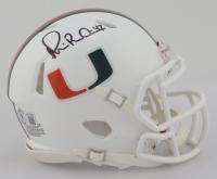 Michael Irvin Signed Miami Hurricanes Speed Mini Helmet (Beckett Hologram) at PristineAuction.com