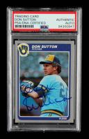 Don Sutton Signed 1985 Fleer #598 (PSA Encapsulated) at PristineAuction.com