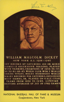 Bill Dickey Signed Gold Hall of Fame Plaque Postcard (Stacks of Plaques COA) at PristineAuction.com