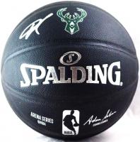 Giannis Antetokounmpo Signed Bucks Logo NBA Basketball (JSA Hologram) at PristineAuction.com