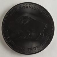 25 Troy Ounce .999 Fine Titanium Oversized Buffalo Bullion Round at PristineAuction.com