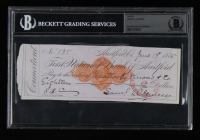 Mark Twain Signed 1875 Bank Check (BGS Encapsulated) at PristineAuction.com