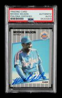 Mookie WIlson Signed 1989 Fleer #52 (PSA Encapsulated & JSA Hologram) at PristineAuction.com