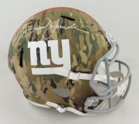Daniel Jones Signed Giants Full-Size Camo Alternate Speed Helmet (JSA COA) (See Description) at PristineAuction.com