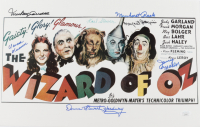 """""""The Wizard of Oz"""" 11x14 Photo Cast Signed by (7) with Mickey Carroll, Jerry Maren, Karl Slover, Clarence Swansen (JSA COA) at PristineAuction.com"""