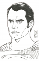 """Tom Hodges - Superman - Henry Cavill - DC Comics - Signed ORIGINAL 5.5"""" x 8.5"""" Drawing on Paper (1/1) at PristineAuction.com"""