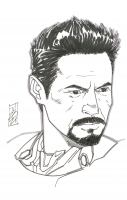 """Tom Hodges - Tony Stark - Iron Man - The Avengers - Marvel Comics - Signed ORIGINAL 5.5"""" x 8.5"""" Drawing on Paper (1/1) at PristineAuction.com"""