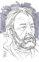 "Tom Hodges - Obi-Wan Kenobi - ""Star Wars"" - Signed ORIGINAL 5.5"" x 8.5"" Drawing on Paper (1/1) at PristineAuction.com"