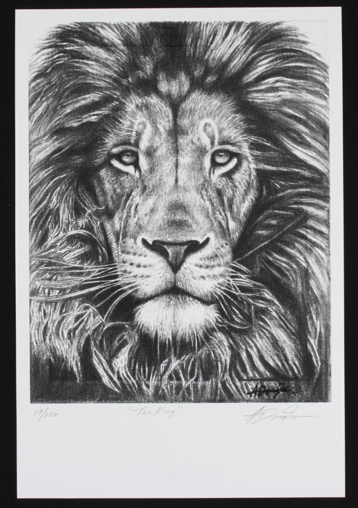 """The King"" 12x18 LE Lithograph (PA LOA) at PristineAuction.com"