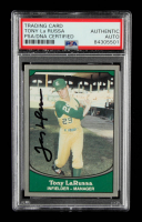 Tony LaRussa Signed 1990 Pacific Legends #90 (PSA Encapsulated) at PristineAuction.com