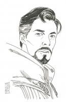 "Tom Hodges - Doctor Strange - The Avengers - Marvel Comics - Signed ORIGINAL 5.5"" x 8.5"" Drawing on Paper (1/1) at PristineAuction.com"
