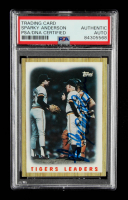 Sparky Anderson Signed 1987 Topps #631 Tigers Team / Mound Conference (PSA Encapsulated) at PristineAuction.com