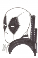 "Tom Hodges - Deadpool - Marvel Comics - Signed ORIGINAL 5.5"" x 8.5"" Drawing on Paper (1/1) at PristineAuction.com"