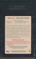 Dwyane Wade Signed 2009-10 Bowman 48 Autographs #48ADW (SGC Encapsulated - Graded 9) at PristineAuction.com