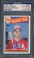 Mark McGwire Signed 1985 Topps #401 OLY RC (PSA Encapsulated) at PristineAuction.com