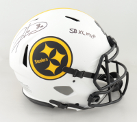 """Hines Ward Signed Steelers Full-Size Authentic On-Field Lunar Eclipse Alternate Speed Helmet Inscribed """"SB XL MVP"""" (Beckett Hologram) (See Description) at PristineAuction.com"""