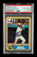 Andre Dawson Signed 1987 Topps #345 (PSA Encapsulated) at PristineAuction.com