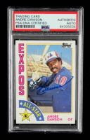 Andre Dawson Signed 1984 Topps #392 AS (PSA Encapsulated) at PristineAuction.com