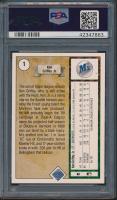 Ken Griffey Jr. Signed 1989 Upper Deck #1 RC (PSA Encapsulated - Graded 8) at PristineAuction.com