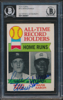 Roger Maris & Hank Aaron Signed 1979 Topps #413 ATL (BGS Encapsulated) at PristineAuction.com