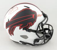 Andre Reed, Jim Kelly & Thurman Thomas Signed Bills Full-Size Lunar Eclipse Alternate Speed Helmet (Beckett COA) at PristineAuction.com
