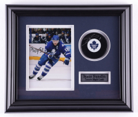Mats Sundin Signed Maple Leafs 12.5x14.5 Custom Framed Puck Display (COJO COA) (See Description) at PristineAuction.com