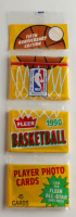 1990-91 Fleer Basketball 5th Anniversary Edition Rack Pack Of (45) Cards With Michael Jordan #5 Sticker Card On Bottom at PristineAuction.com