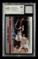 LeBron James 2003-04 Upper Deck Phenomenal Beginning LeBron James #12 With Game Used High-School Jersey Swatch (BCCG 10) at PristineAuction.com