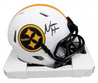Najee Harris Signed Steelers Lunar Eclipse Alternate Speed Mini Helmet (Beckett COA) at PristineAuction.com
