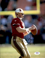 Steve Young Signed 49ers 8x10 Photo (PSA COA) at PristineAuction.com