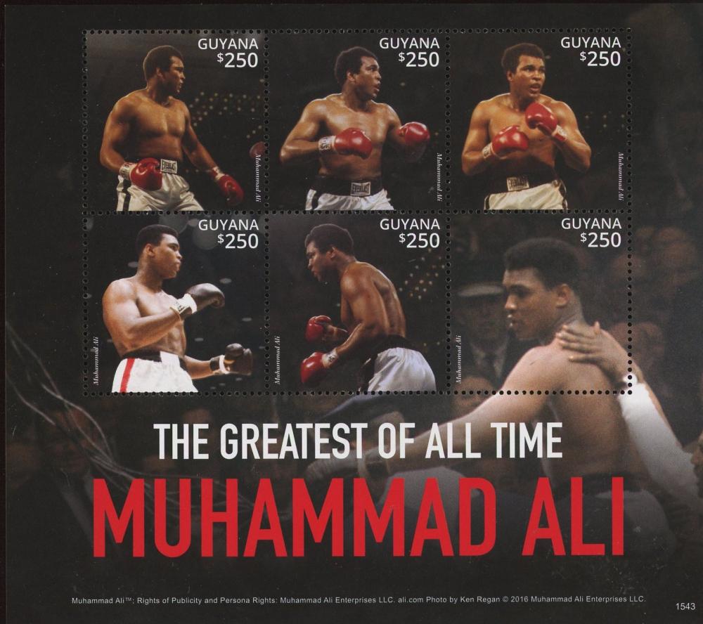 Muhammad Ali Vintage Uncut Stamp Sheet at PristineAuction.com