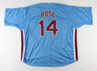 """Pete Rose Signed Jersey Inscribed """"4256"""" (Fiterman Sports Hologram) at PristineAuction.com"""